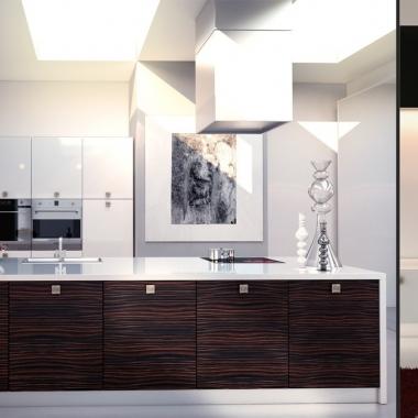 Кухни с фасадами HPL Пластик